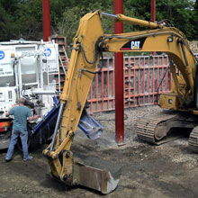 Digger, GF Wilson Building Contractor, Northern Ireland
