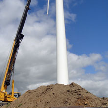 Wind Turbine, GF Wilson Civil Engineering Contractor Northern Ireland